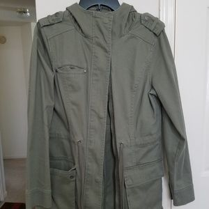 Cotton On Long Army Green Jacket